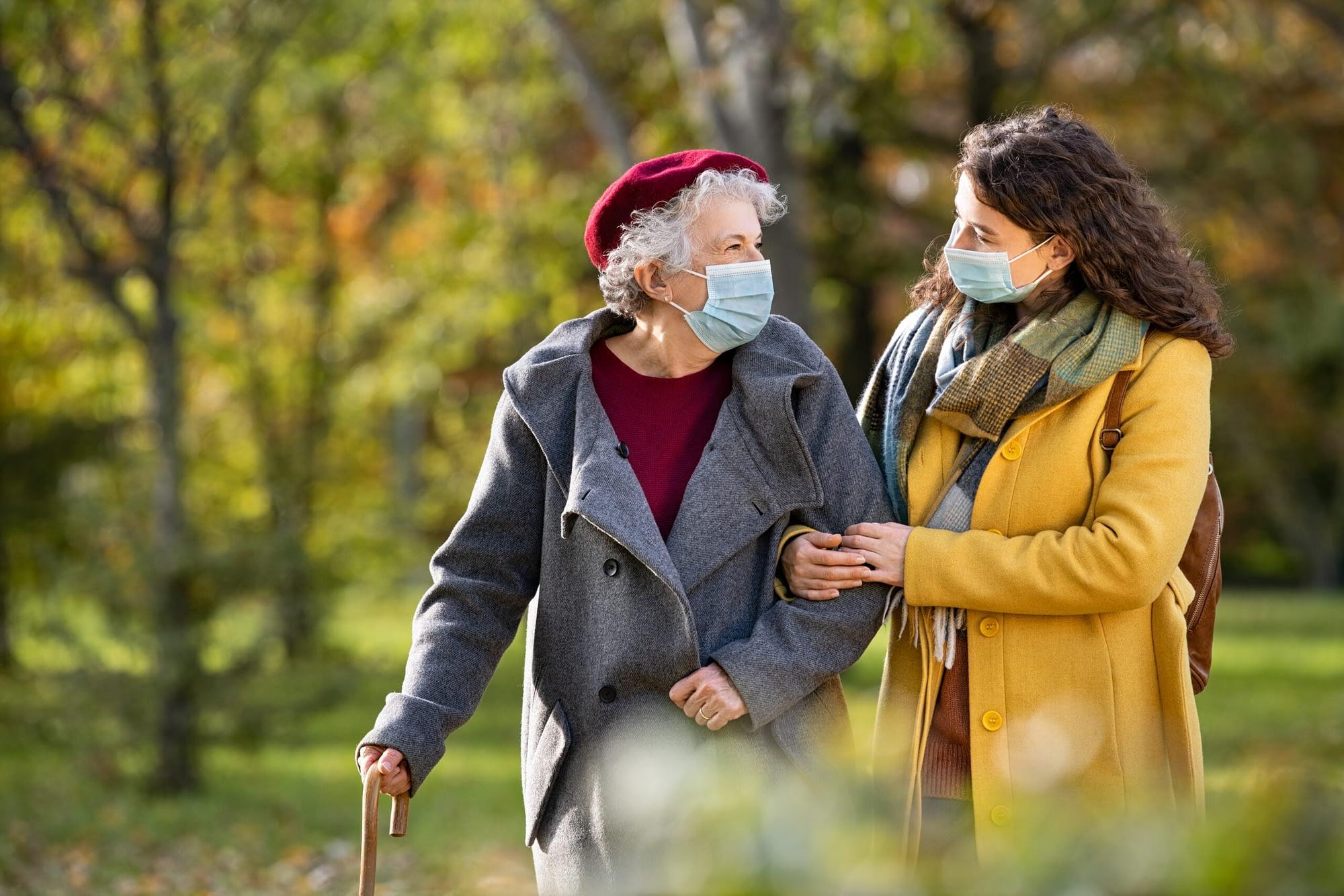 Senior Walking During Colder Weather